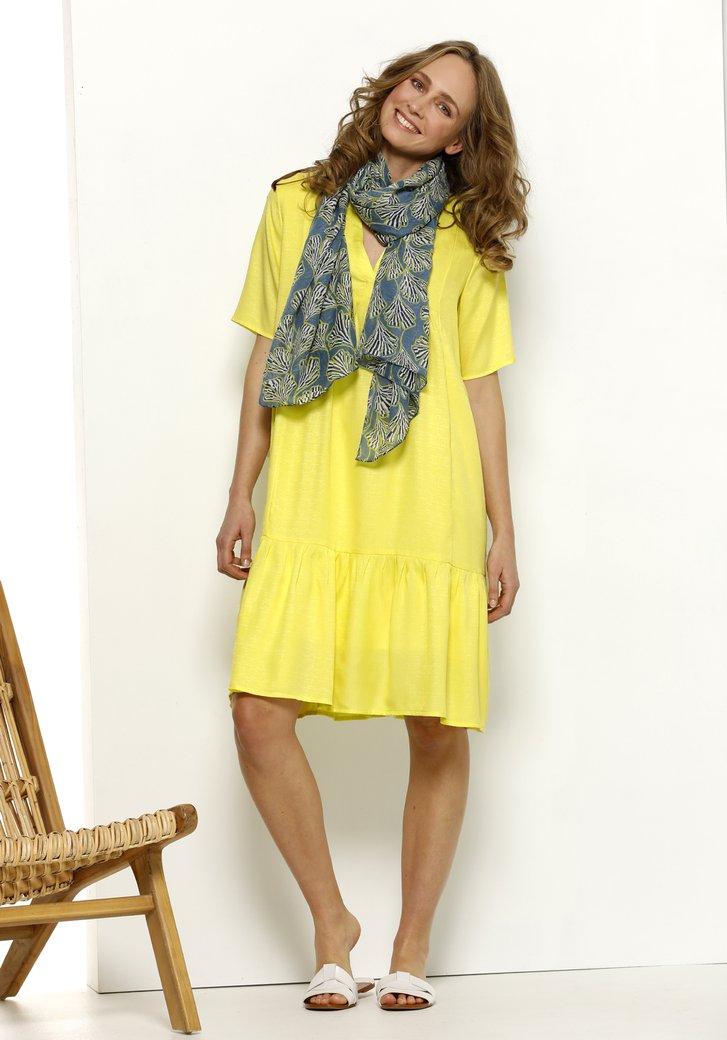 Geel kleed met V-hals