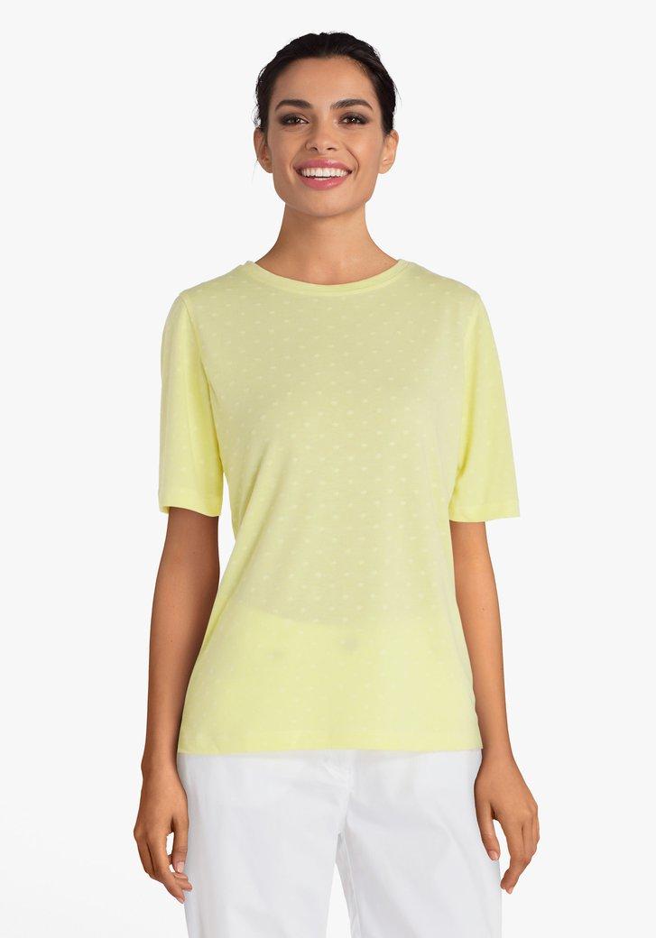 Geel T-shirt met reliëf