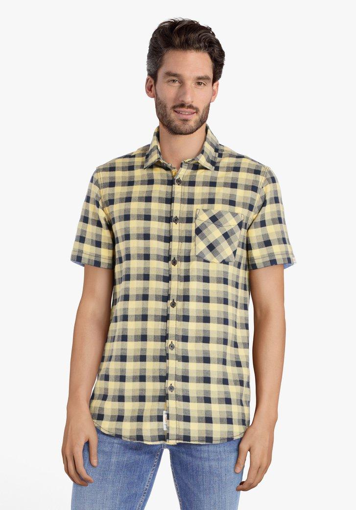 Geel-zwart geruit hemd - regular fit