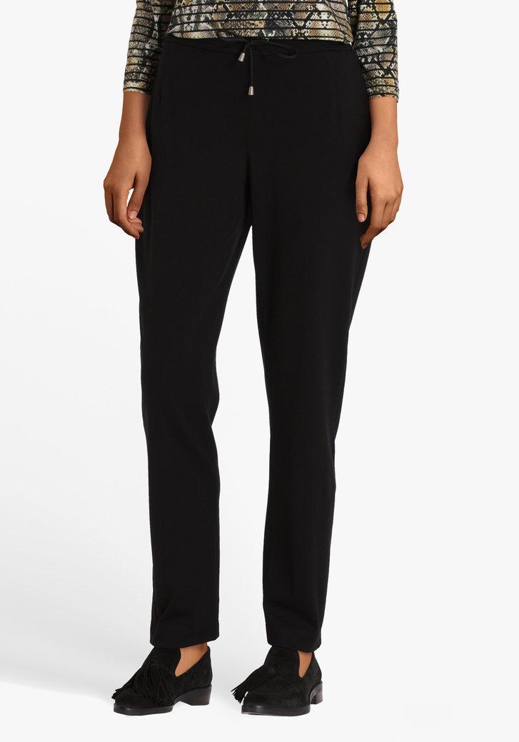 Geklede zwarte stretch broek
