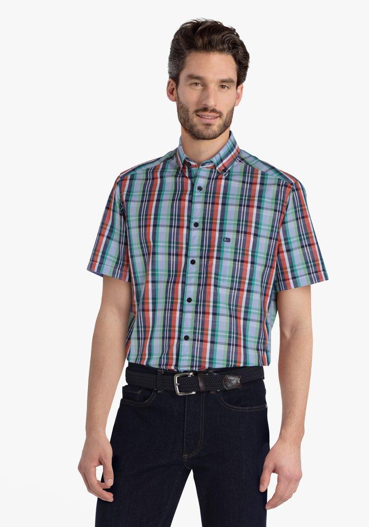 Gekleurd hemd met geruite print - regular fit