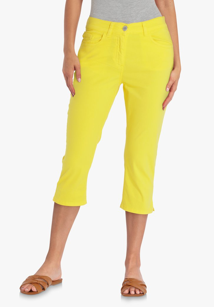 Gele driekwart broek