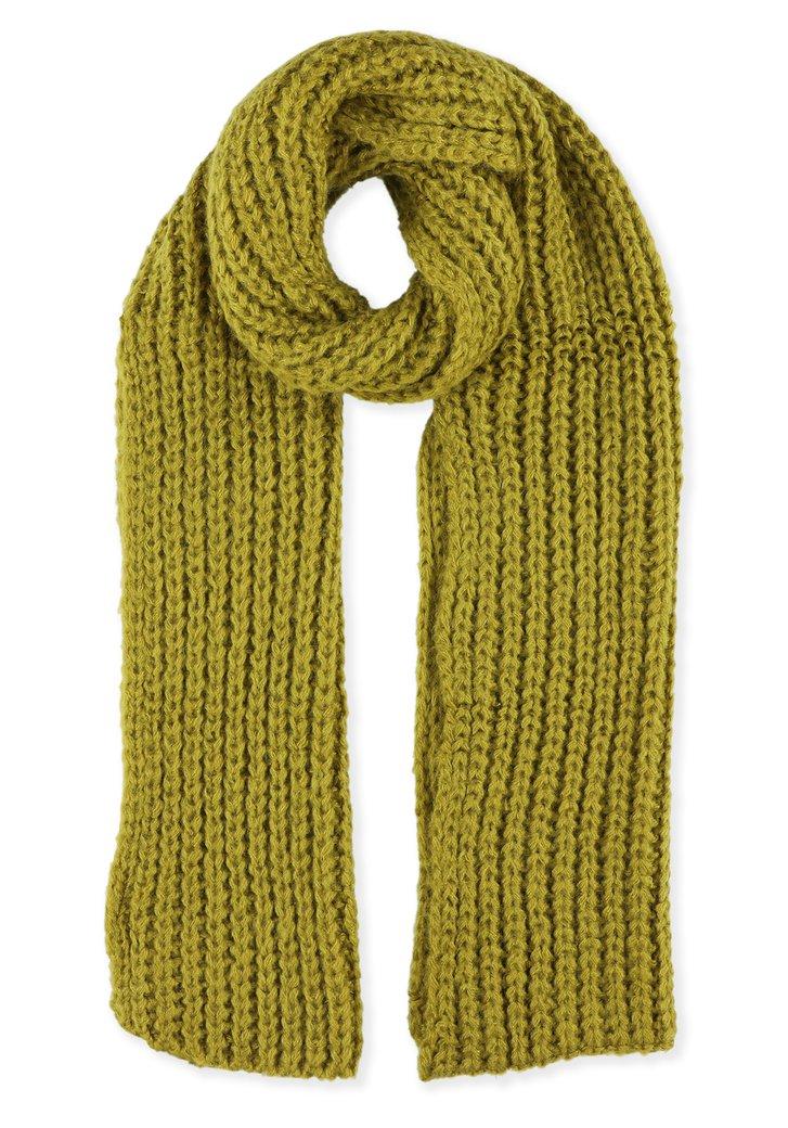 Gele gebreide sjaal