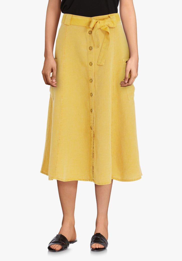 Gele rok met linnen