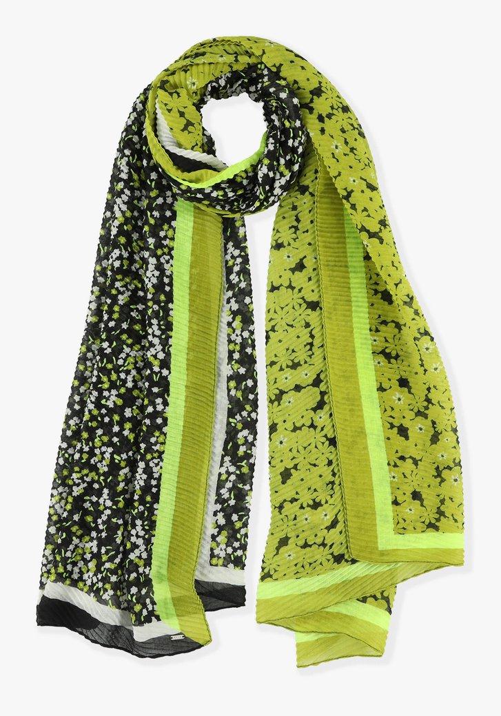 Gele sjaal met bloemenprints