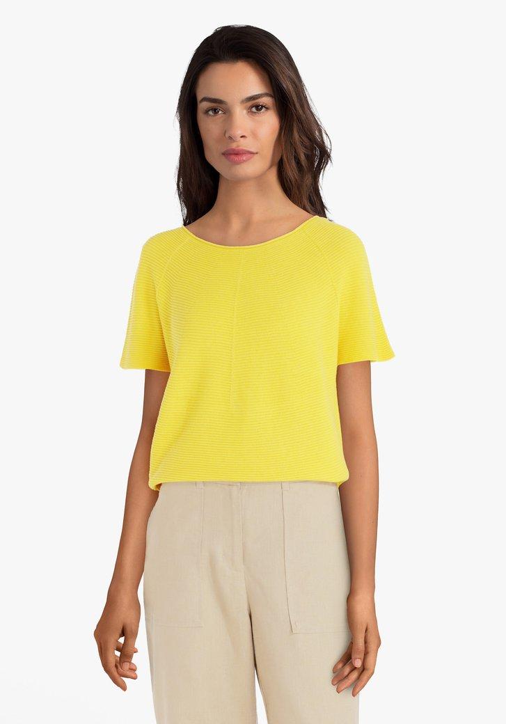 Gele trui met korte mouwen
