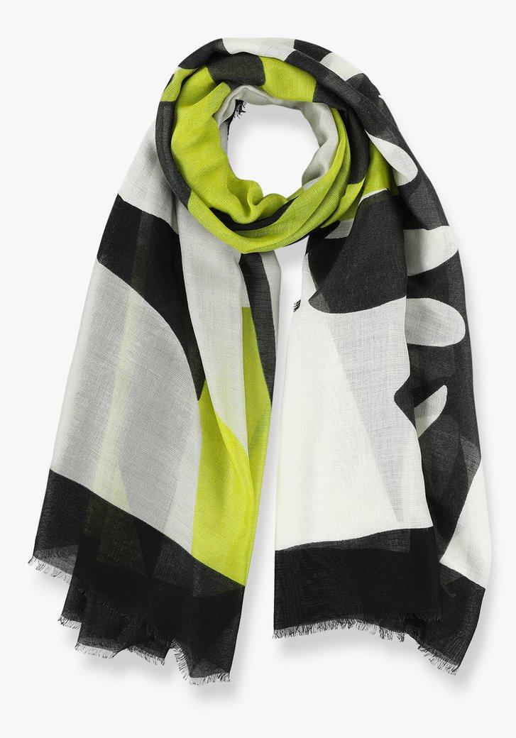 Grijs en groene sjaal