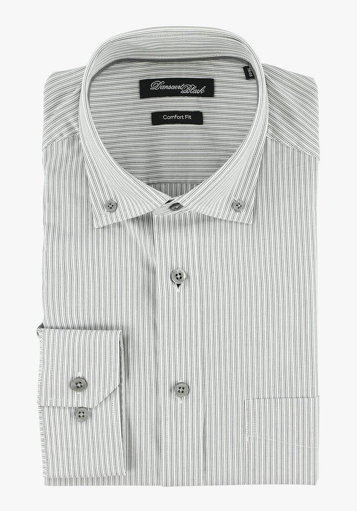 Grijs gestreept hemd - comfort fit