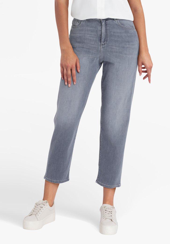 Grijze 7/8 jeansbroek - mom fit