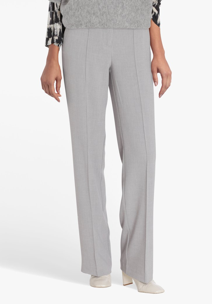 Grijze broek - straight fit
