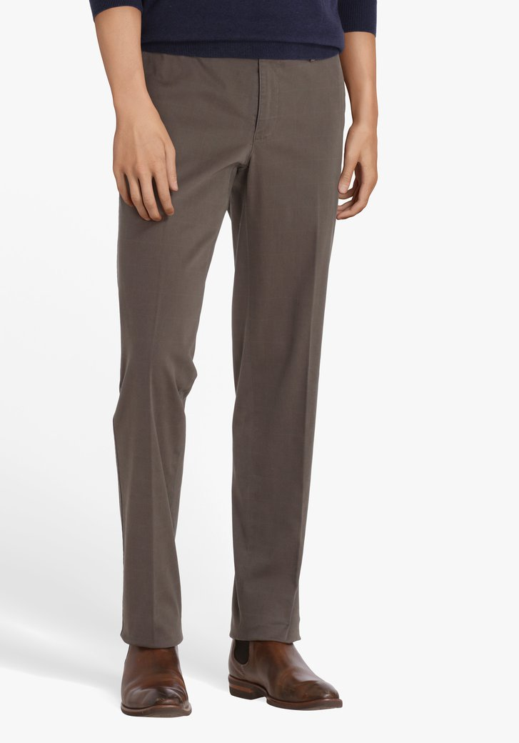 Grijze geruite chino - Louisiana - regular fit