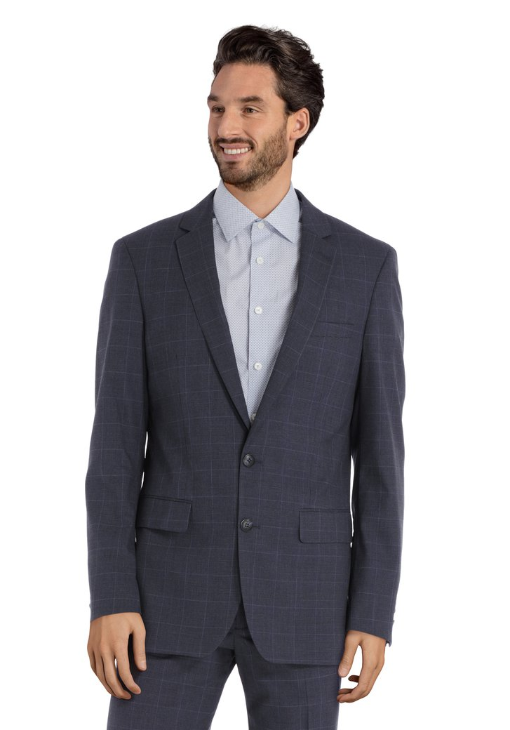 Grijze kostuumvest - Indiana - regular fit