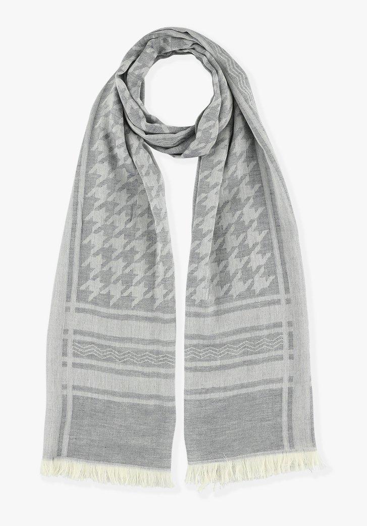 Grijze sjaal met prints