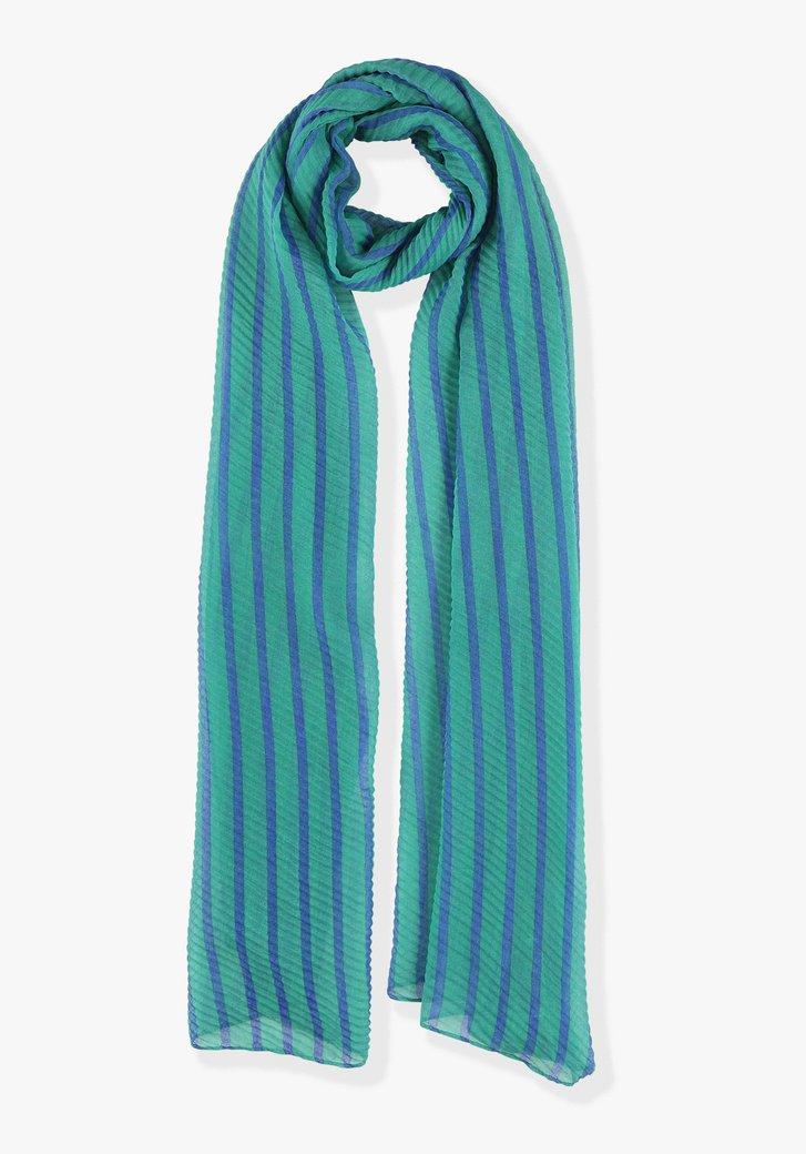 Groen-blauw gestreepte sjaal