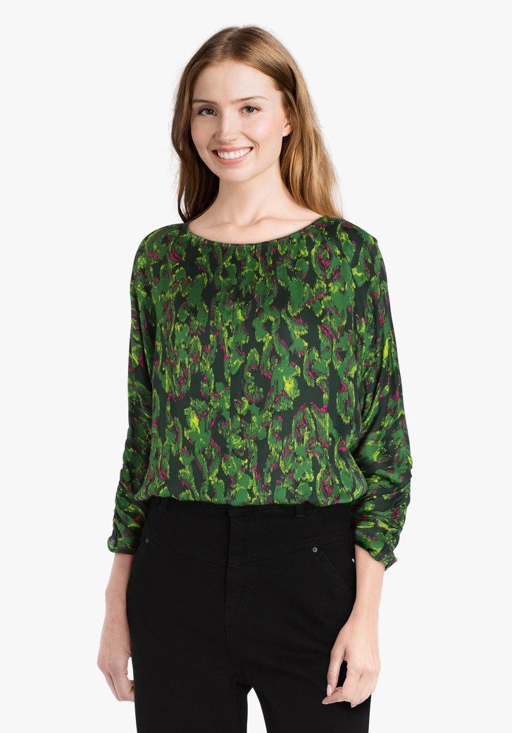 Groene blouse met print