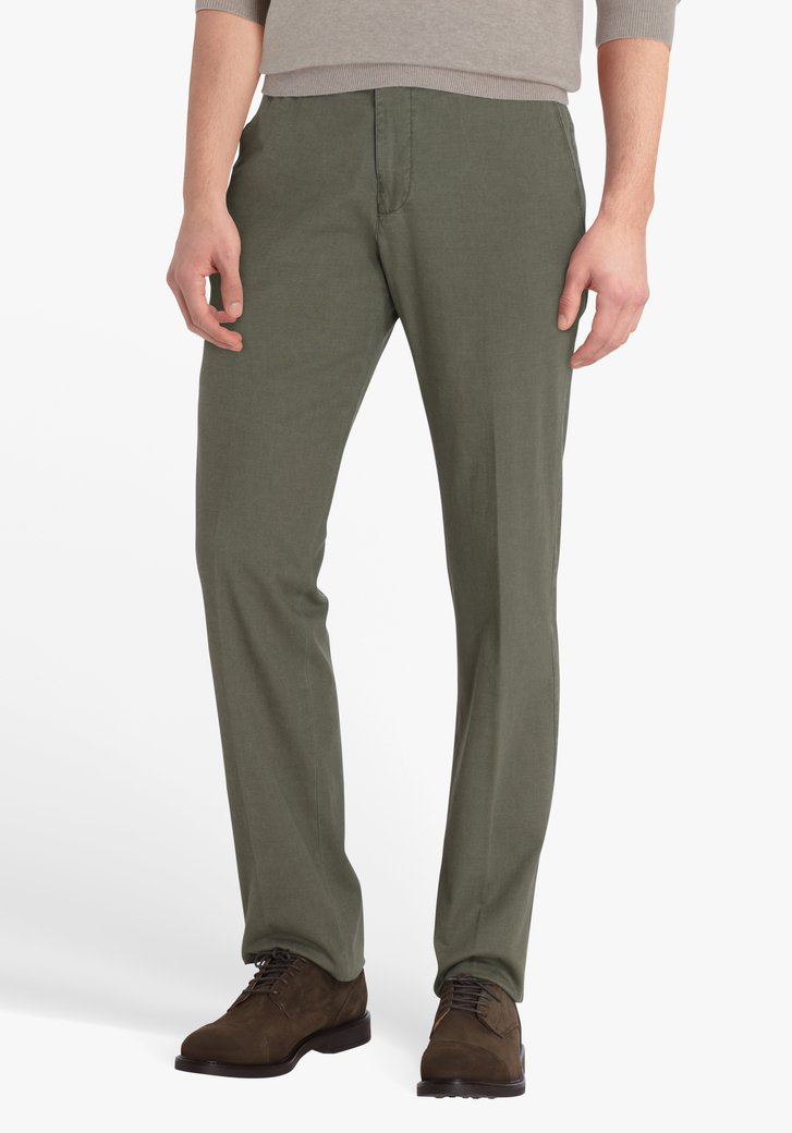 Groene chino - Vancouver - regular fit