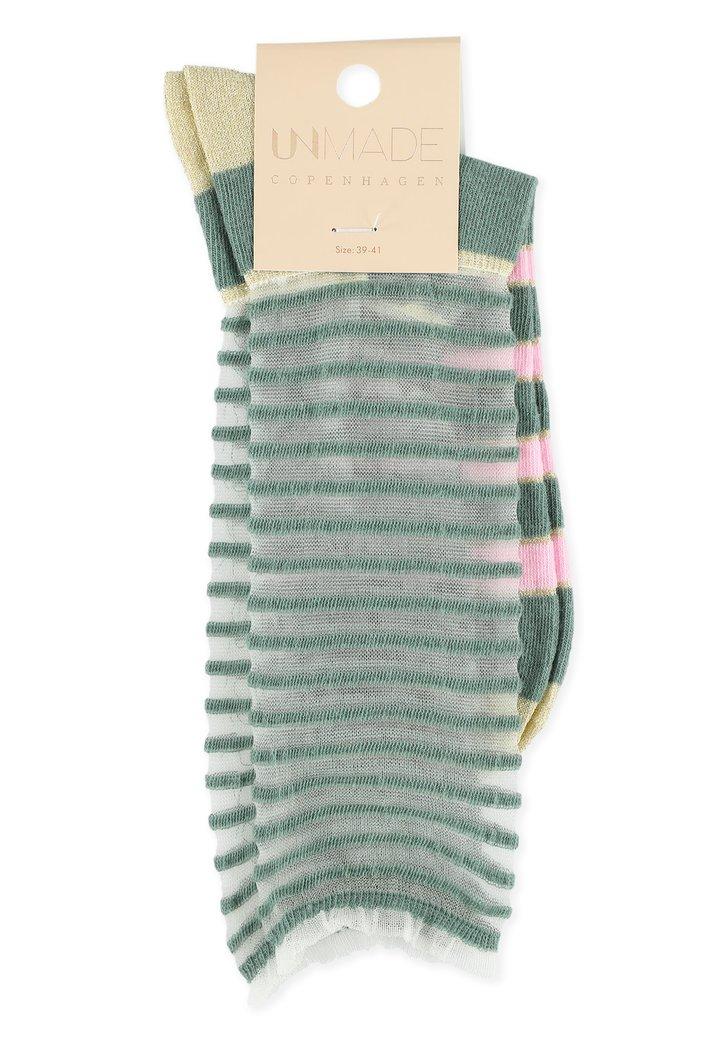Afbeelding van Groene en roze sokken