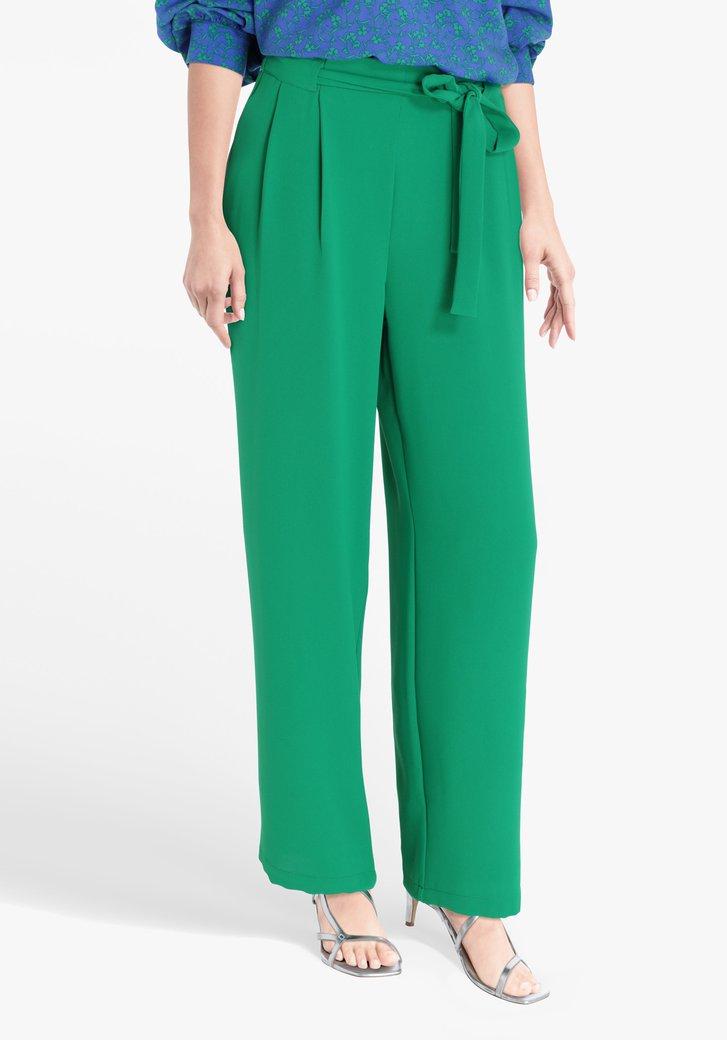 Groene geklede broek