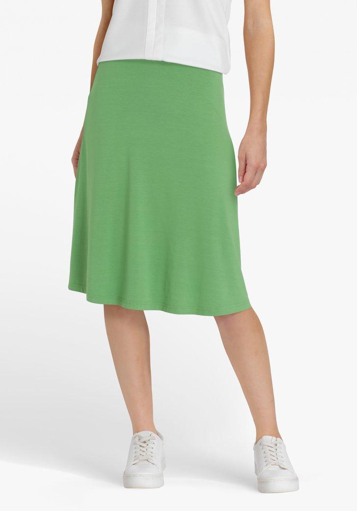 Groene rok met elastische taille