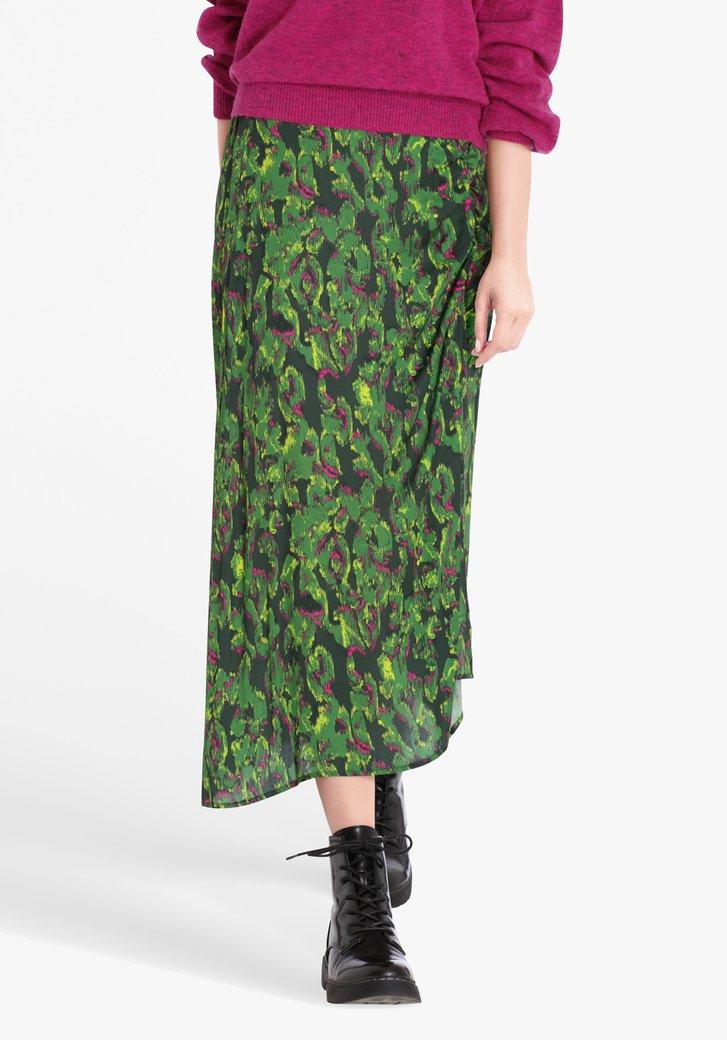 Groene rok met print
