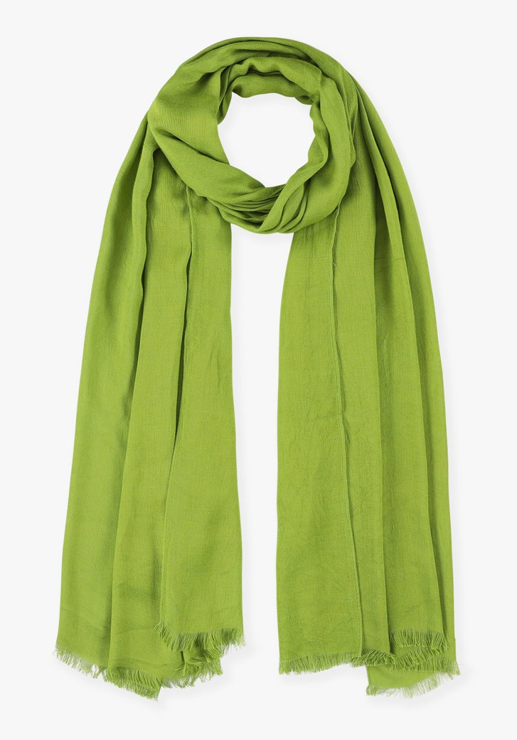 Groene sjaal in viscose