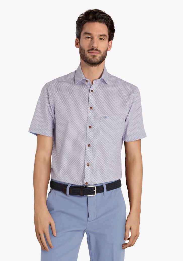 Hemd met blauw-rode print - regular fit