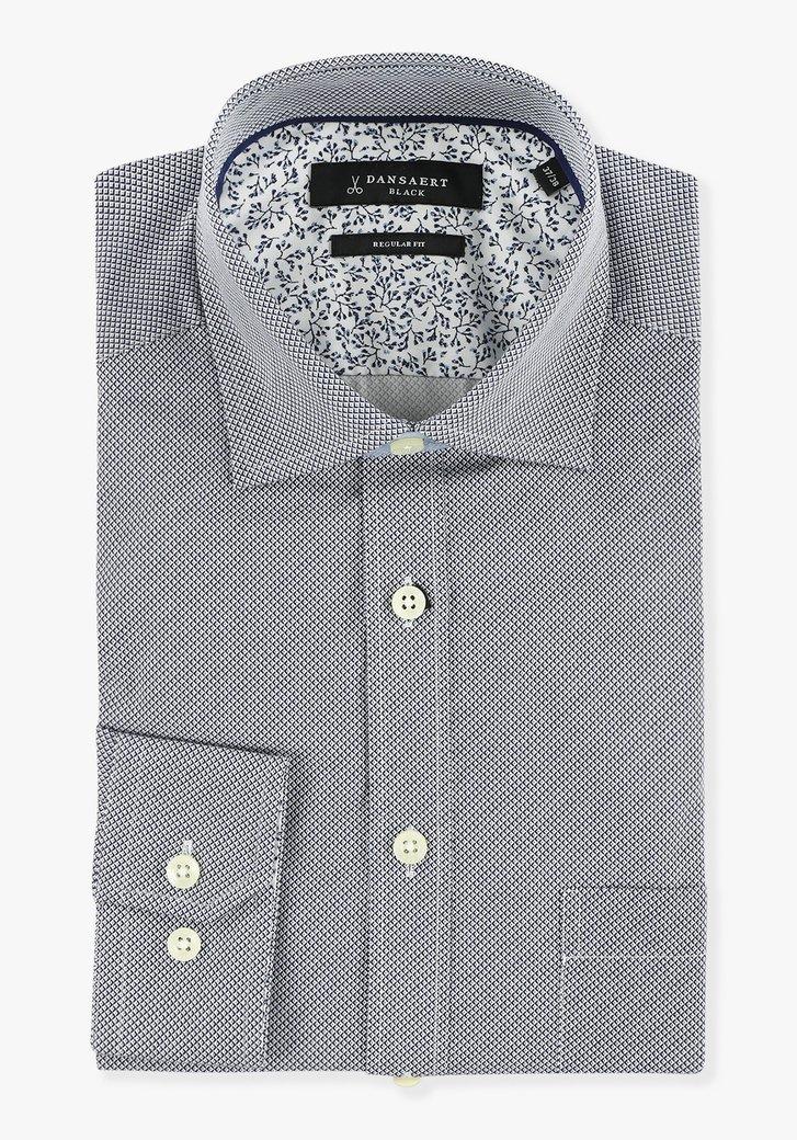 Hemd met blauw-witte print - regular fit