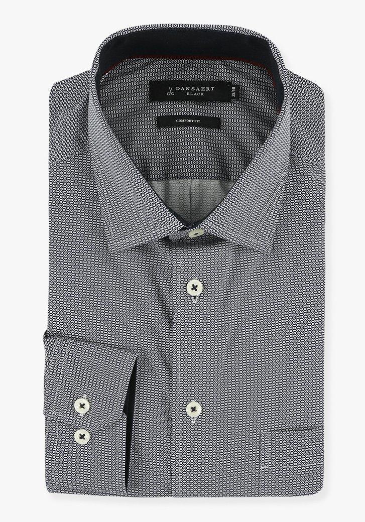 Hemd met donkerblauwe print - comfort fit