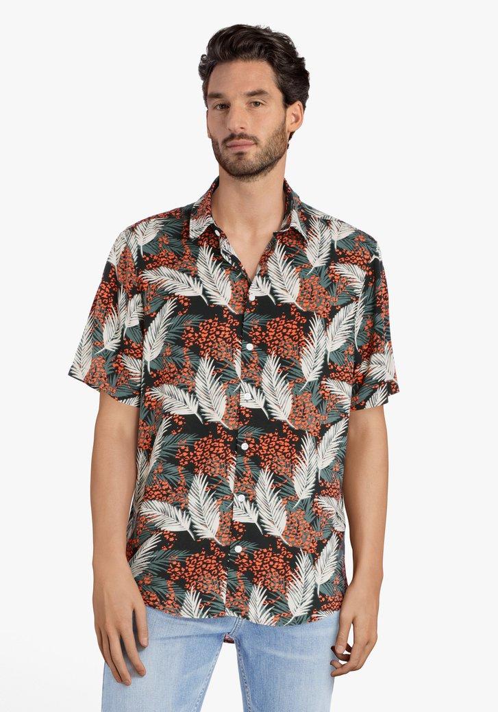 Hemd met exotische print - regular fit