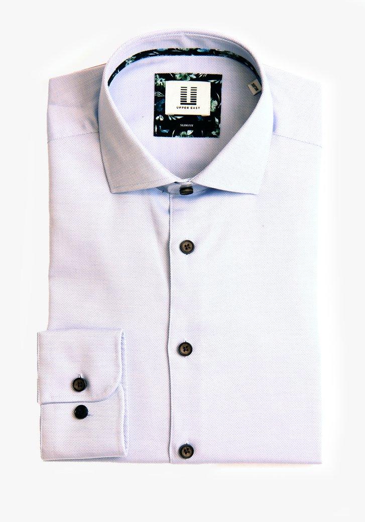 Hemd met fijne blauwe print - slim fit