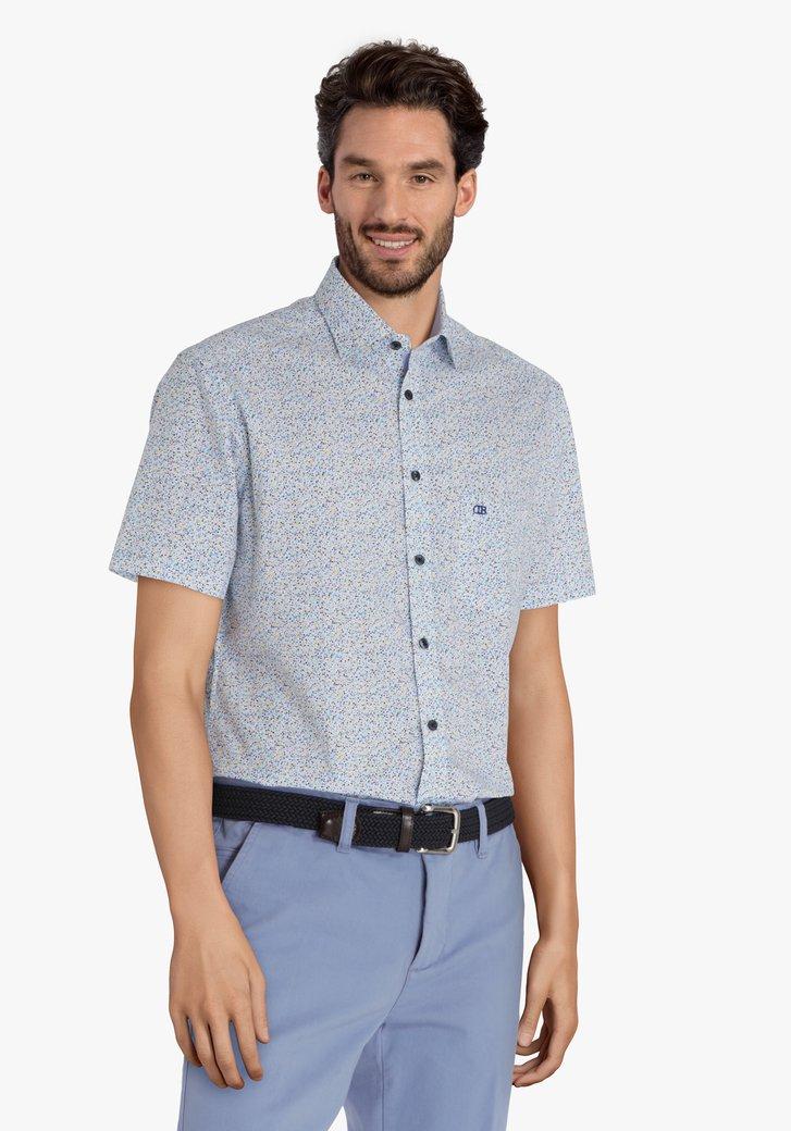 Hemd met geel-blauwe dots - regular fit