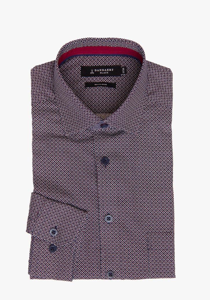 Hemd met miniprint - regular fit