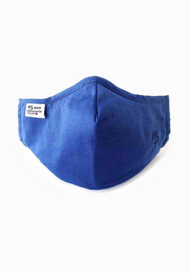 Herbruikbaar stoffen mondmasker - blauw