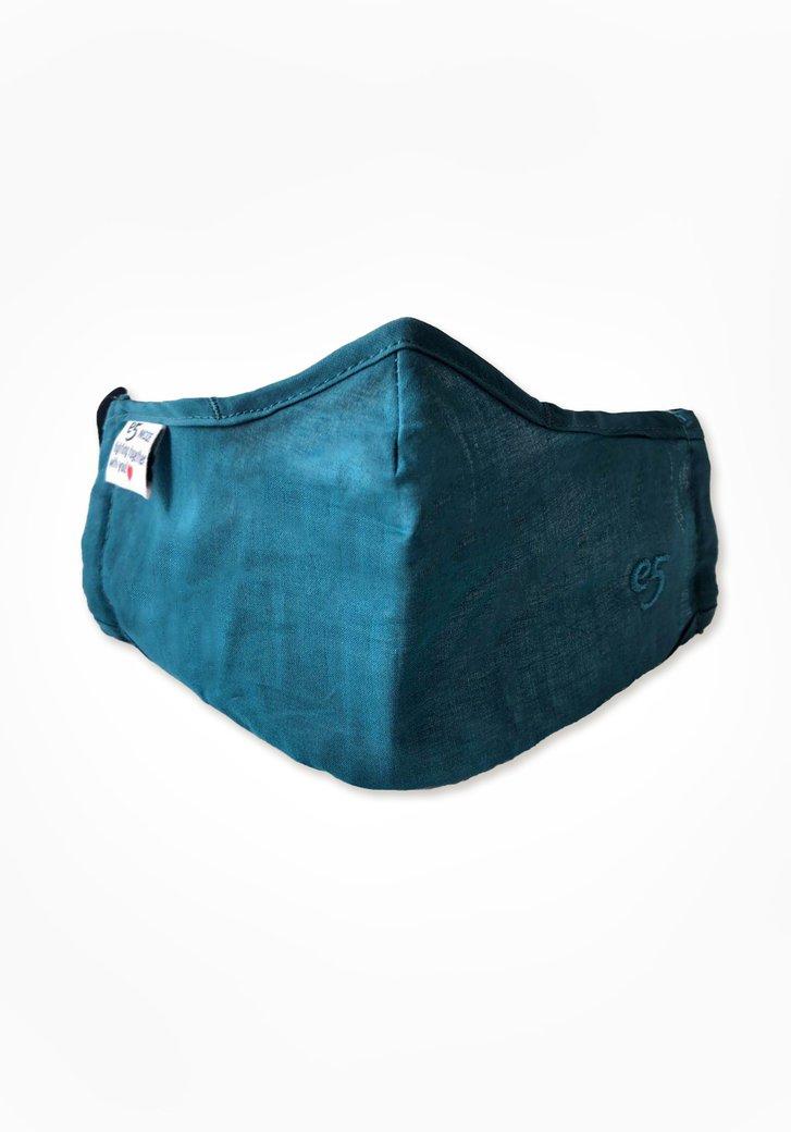 Herbruikbaar stoffen mondmasker - blauwgroen