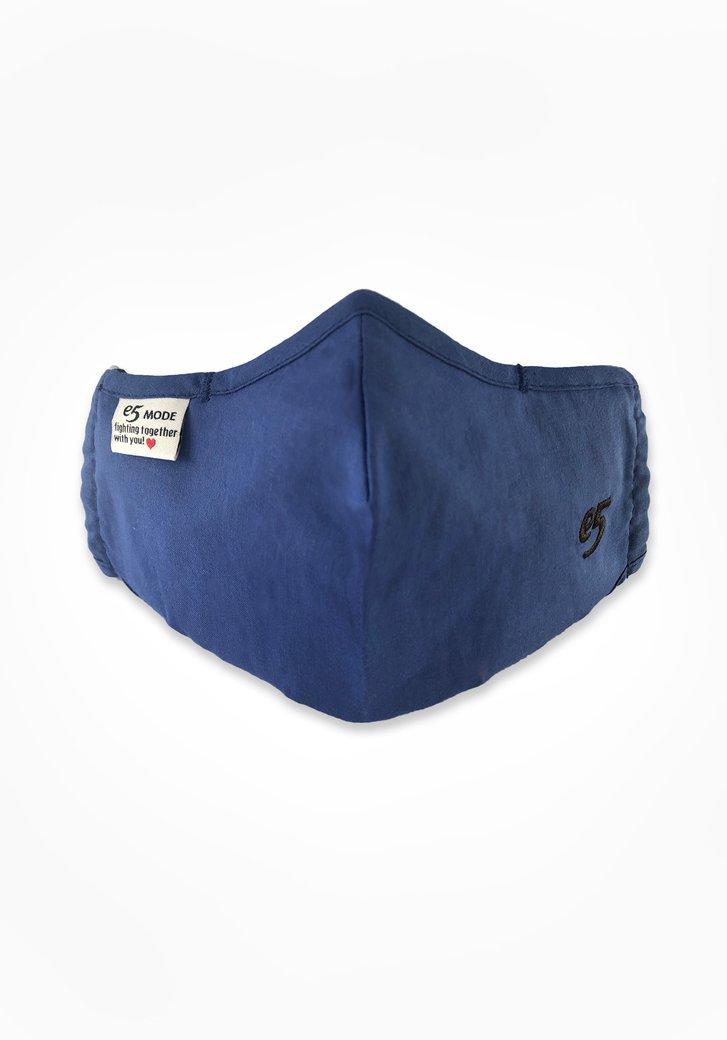 Herbruikbaar stoffen mondmasker - koningsblauw