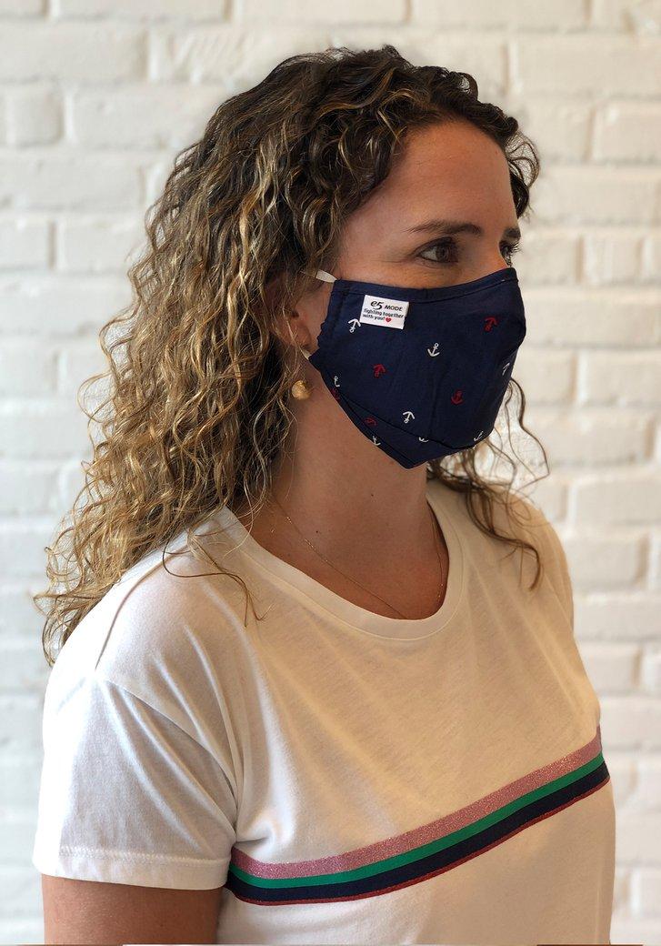 Herbruikbaar stoffen mondmasker - met ankermotief