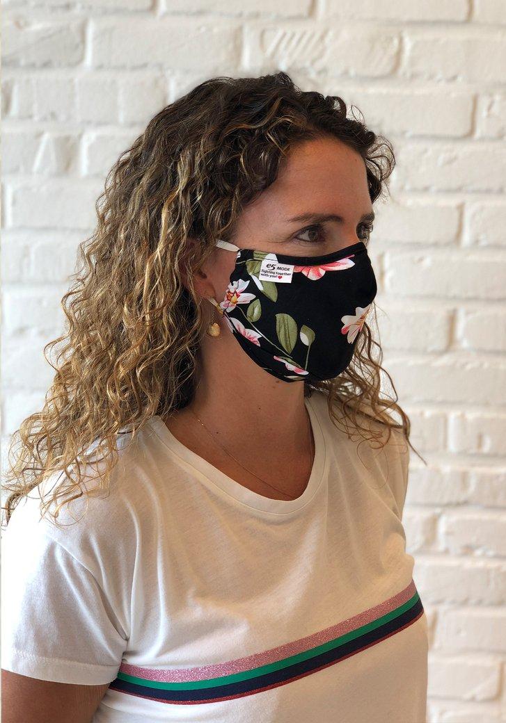 Herbruikbaar stoffen mondmasker - met bloemen