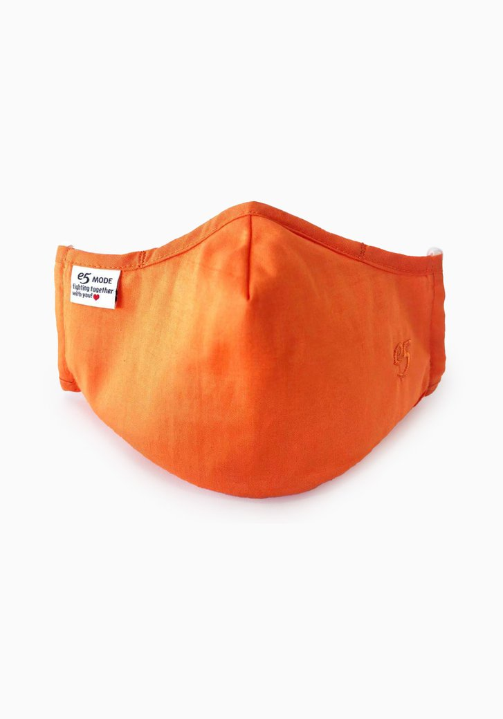 Herbruikbaar stoffen mondmasker - oranje