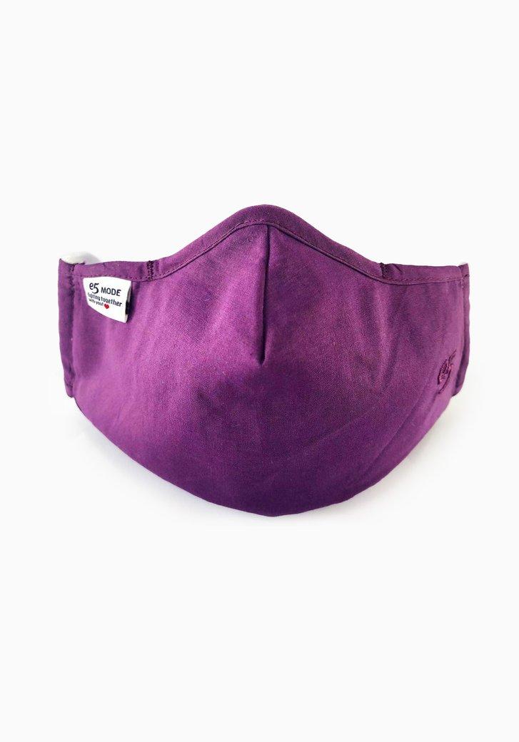 Herbruikbaar stoffen mondmasker - paars