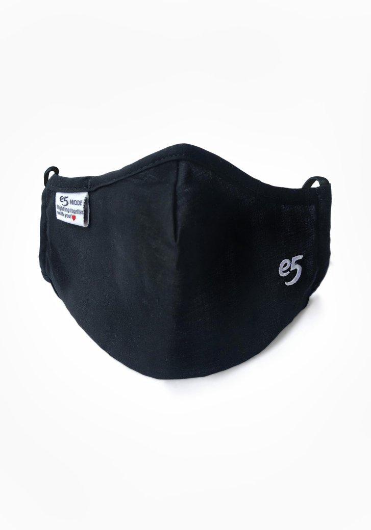 Herbruikbaar stoffen mondmasker - zwart