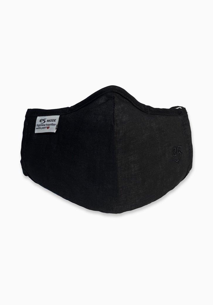 Herbruikbaar stoffen mondsmasker - zwart