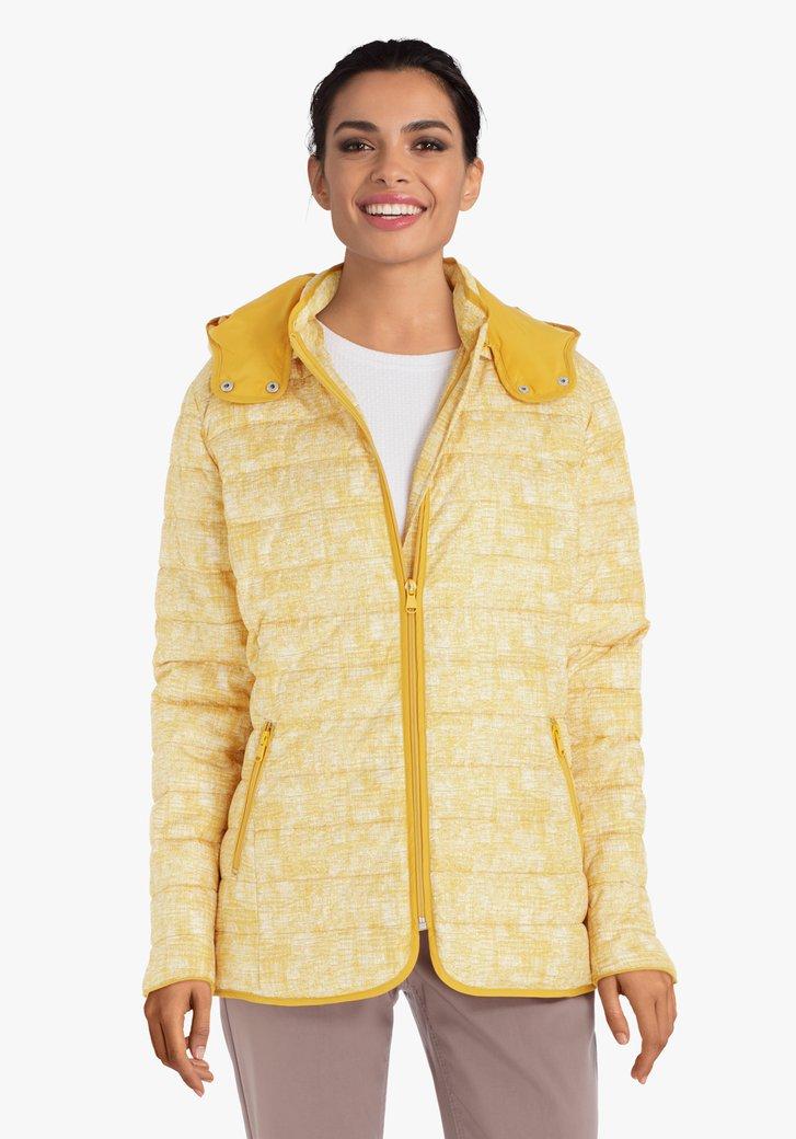 Imperméable jaune avec capuche amovible