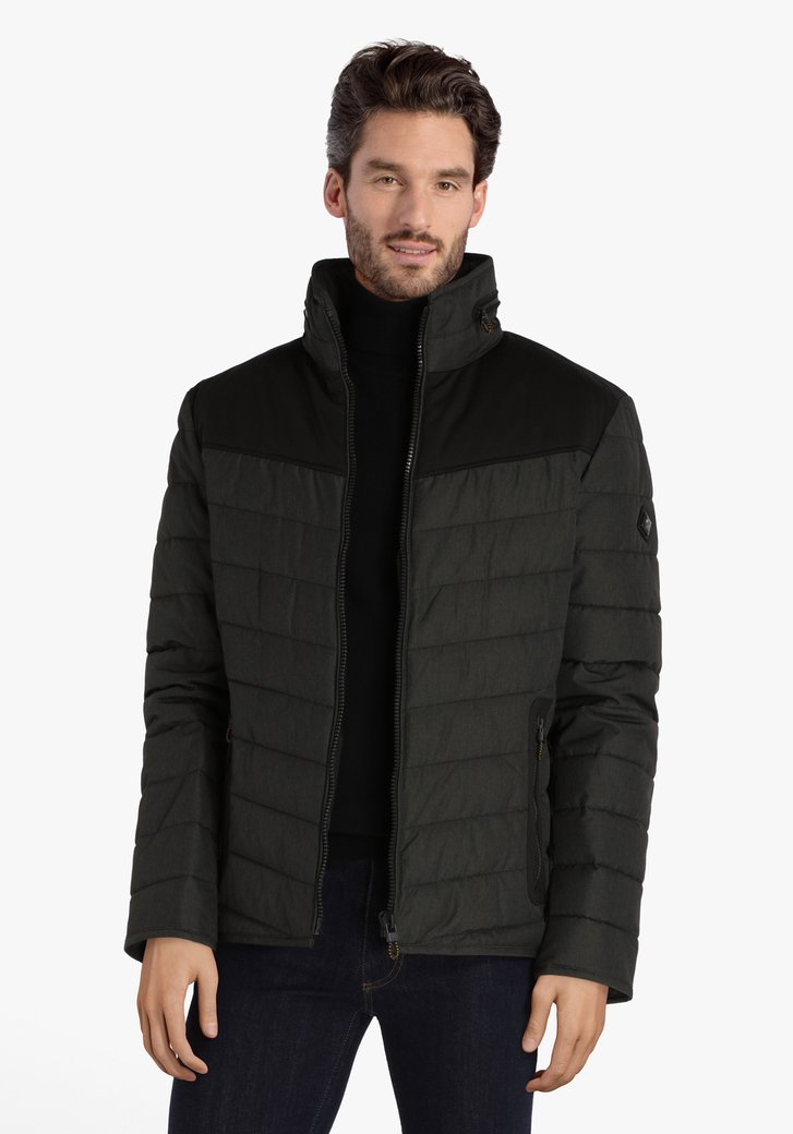 Imperméable rembourré anthracite