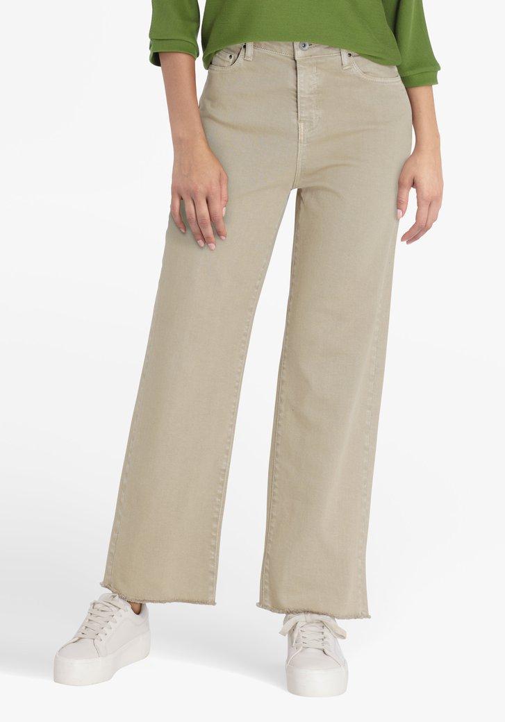 Jean beige - mom fit