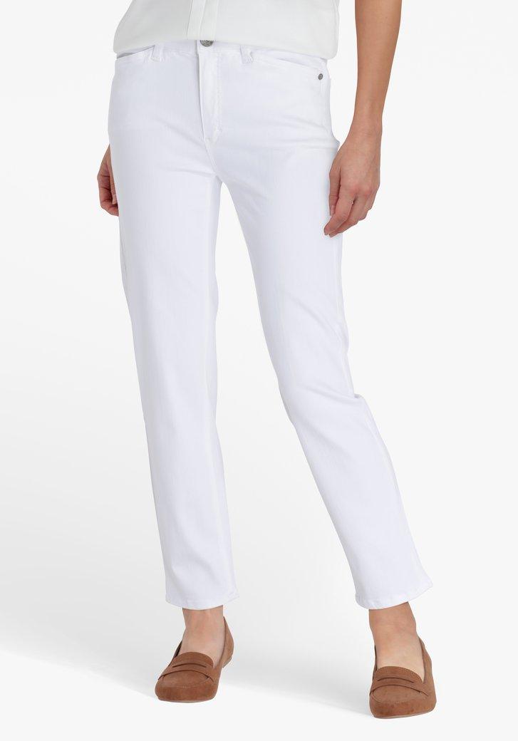 Jean blanc, longueur 7/8 - slim fit