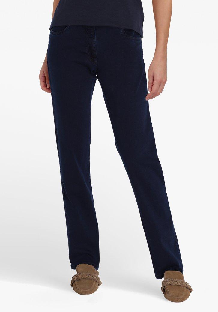 Jean bleu foncé à taille haute - coupe slim