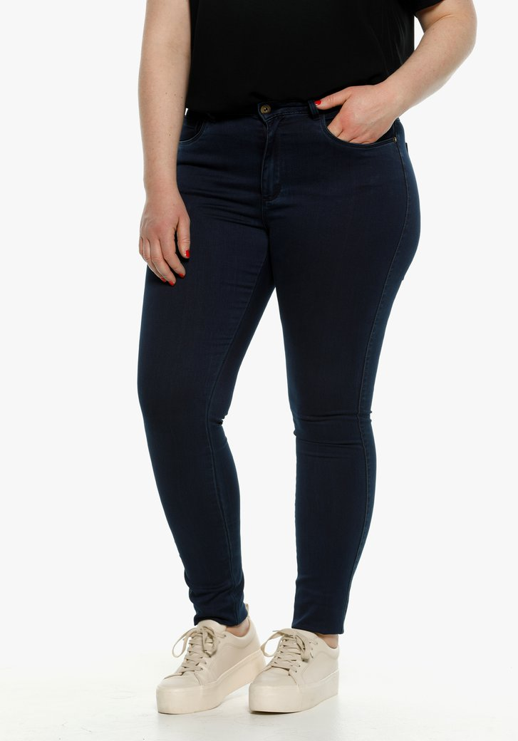 Jean bleu foncé high waist - skinny fit