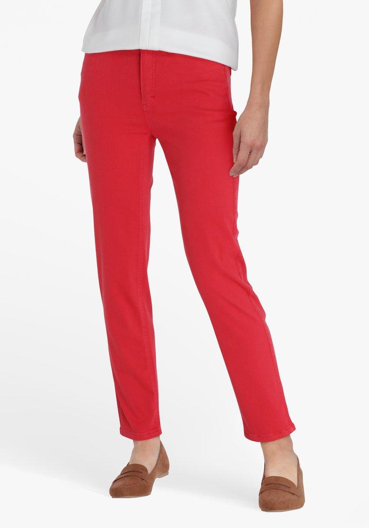 Jean rouge, longueur 7/8 - slim fit