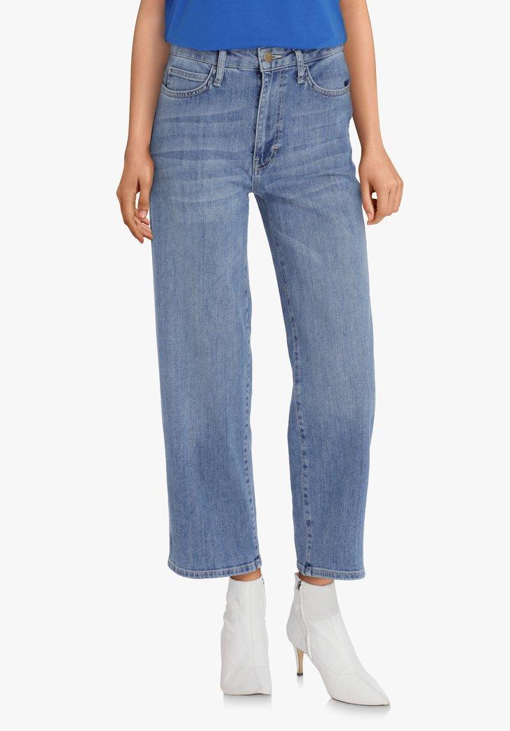 Jeans bleu – straight fit - longueur cheville