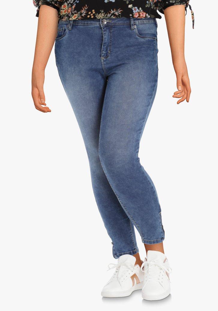 Jeans bleu foncé en tissu extensible – slim fit